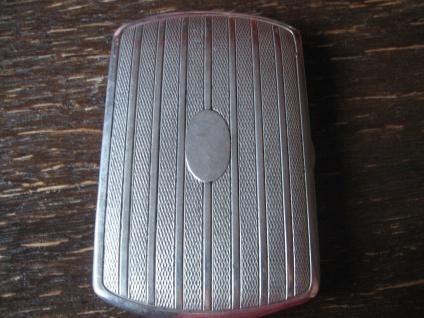 elegantes Art Deco Zigarettenetui Zigarilloetui silber sehr zierlich für Damen