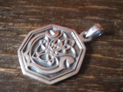 edler Anhänger Amulett keltische Distel und Harfe Lyra Leier 925er Silber neu - Vorschau 2
