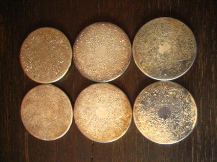 6 stilvolle elegante Untersetzer Glasuntersetzer silber pl aus England sehr edel
