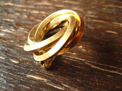 zauberhafte Art Deco Brosche gold verschlungener Knoten Kranz zeitlos und edel - Vorschau 2