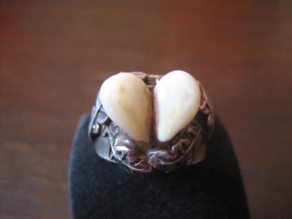 schöner antiker Grandlring Grandelring Trachten Ring echte Grandln 800er Silber