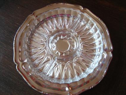 prächtige Silbertablett Silberschale Servierschale mit passendem Glas Cabaret