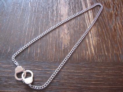 exklusive Handschellen Kette Chained and Locked Edelstahl Et Nox neu 49 cm lang
