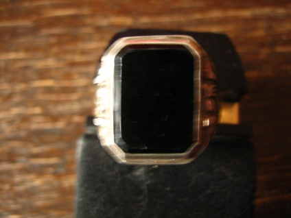 geschmackvoller Art Deco Herrenring Siegelring 835er Silber Onyx Ring RG 65 - Vorschau 3