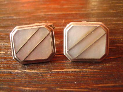 zeitlos elegante Art Deco Manschettenknöpfe 835er Silber edle Perlmutt Einlage