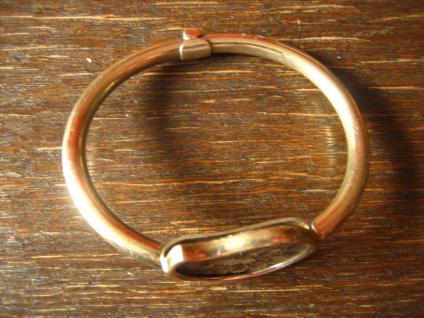 exklusiver vintage Designer Armreif Armspange 925er Silber vergoldet mit Ammonit - Vorschau 4