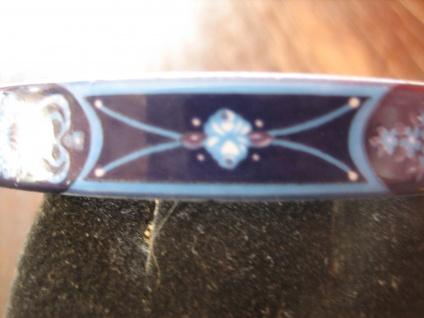 Michaela Frey Designer Armreif Emaille Modernist Vintage enamel bangle 70er Blau - Vorschau 2