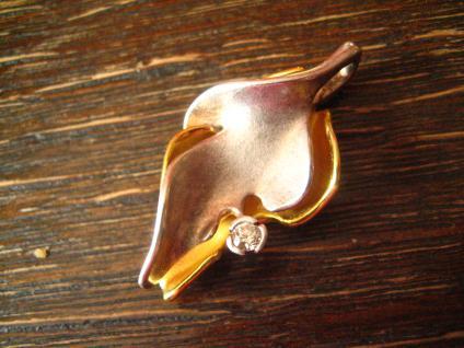 prächtiger Vintage Designer Anhänger Charisma Günthner GmbH sg 925er Silber gold