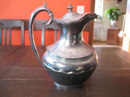 prächtige antike Karaffe Krug Silberkrug Saftkrug silver plated Sheffield Dixon