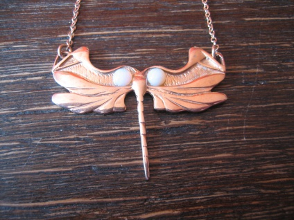 reizendes Jugendstil Collier Libelle 925er Silber Roségold echter Vollopal Opal