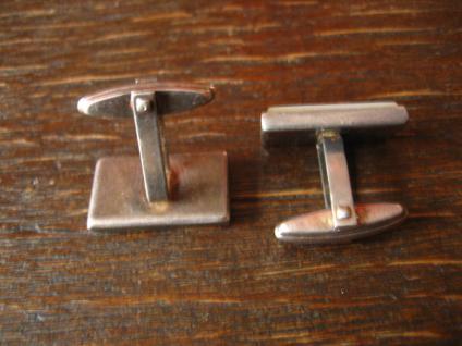 zeitlos elegante Art Deco Manschettenknöpfe 835er Silber Perlmutt Einlage - Vorschau 3