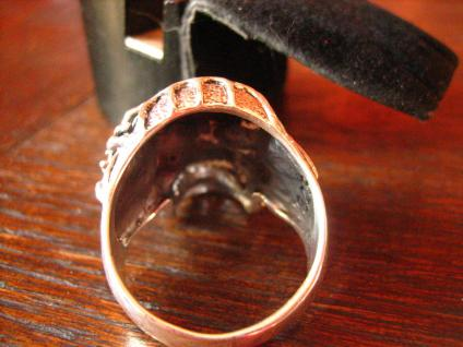 mächtiger Biker Ring Totenkopf Dämon Spinne Skull 925er Silber RG 63 Gothic - Vorschau 4