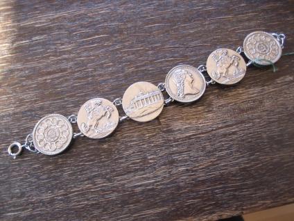 reich verziertes vintage Trachten Armband Münzarmband silber 1950 19 cm lang