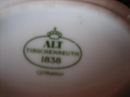 zauberhafter vintage Porzellan Anhänger Tirschenreuth orangefarbene Blüten - Vorschau 3