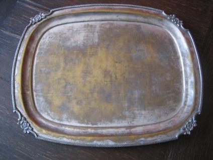 prächtig verziertes großes Silbertablett Tablett Shabby Chic silber pl England