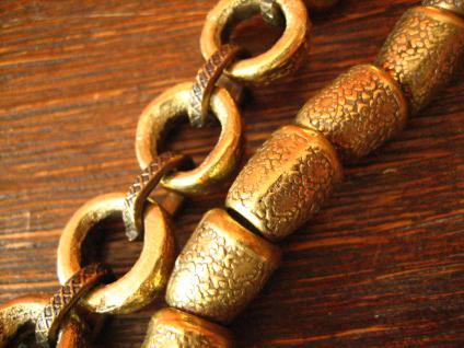 angesagte ultra coole Statement Collier Kette Designer Leonardi Arte bronze gold - Vorschau 4