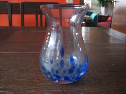 seltene Murano Glas Muranoglas Vase Hyazinthenglas Hyazinthenvase blau Überfang
