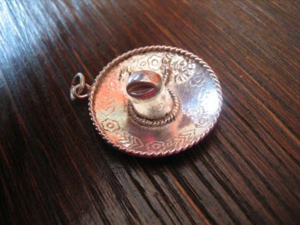 toller Sombrero Mexikanerhut Mexiko Hut Anhänger 925er Silber fein verziert