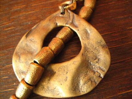 angesagte ultra coole Statement Collier Kette Designer Leonardi Arte bronze gold - Vorschau 2