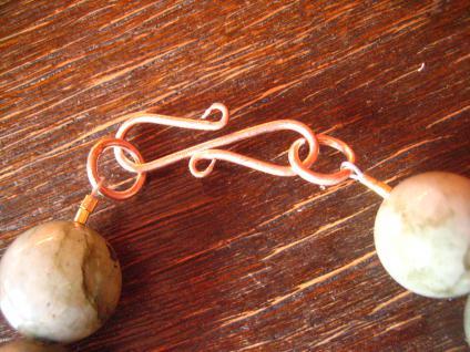 prächtiges Labradorit Kugel Collier Kette 925er Silber rosegold 17 mm Kugeln - Vorschau 5