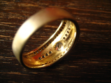 sehr edler moderner Designer Ring 925er Silber mattiert gold vergoldet Zirkonia - Vorschau 4
