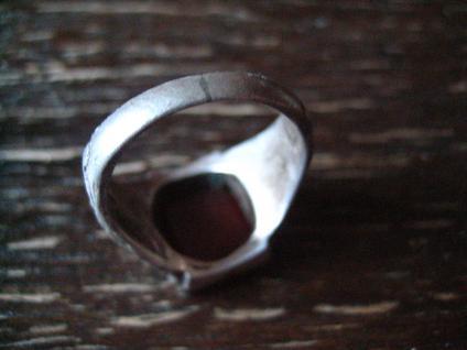 klassischer feiner Art Deco Ring Siegelring Carneol 835er Silber 17, 25 mm RG 55 - Vorschau 4