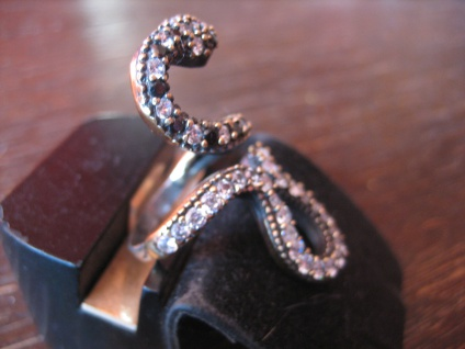 Krafttier Schlange - starker Schlangen Ring 925er Silber gold Zirkonia RG 55-60 - Vorschau 3