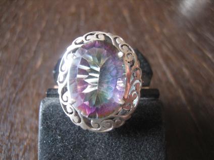traumhaft schöner Unikat Ring Mystik Topas Mystictopaz Durchbruch 925er Silber