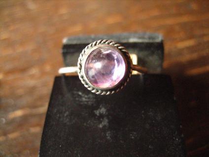zartes antikes Kinder Schmuckset Ring Ohrringe 800er / 925er Silber Amethyst - Vorschau 5