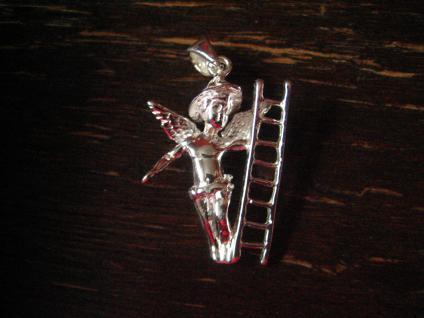 reizender Glücksbringer Elfe Fairy Pixie Leprechaun Anhänger 925er Silber neu