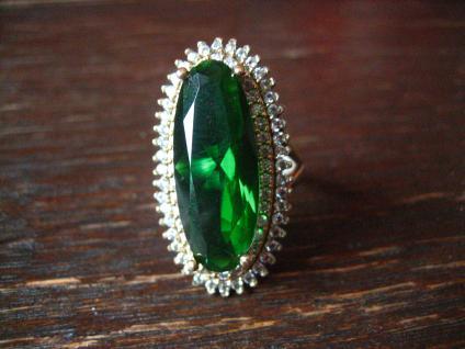 Kronjuwelen gesucht ? atemberaubender turmalin Zirkonia Ring 925er Silber gold