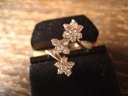 bezaubernder Vintage Designer Ring Stern Sterne Sternchen 925er Silber Zirkonia