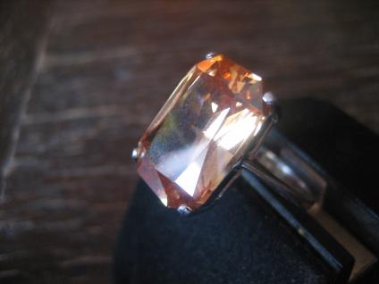 klassisch eleganter Mandarintopas Ring im Art Deco Stil 925er Silber RG 58 / 59 - Vorschau 3