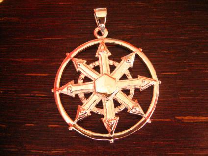großer maritimer Anhänger Windrose Kompass Windrichtungen Pirat 925er Silber neu
