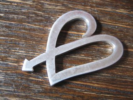 großer aktueller Herz Anhänger romantisch & clean 925er Silber NEU Romantik Pur - Vorschau 3