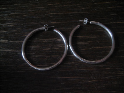 edle Klassiker - große Silbercreolen Creolen Ohrringe Stecker 925er Silber NEU - Vorschau 2
