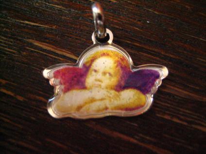 reizender Kinder Anhänger Bettelarmband Schutzengel Engel Amulett 925er Silber B