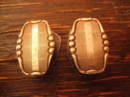 klassisch elegante Art Deco Manschettenknöpfe Wechselknöpfe Schmuckknöpfe silber - Vorschau 2