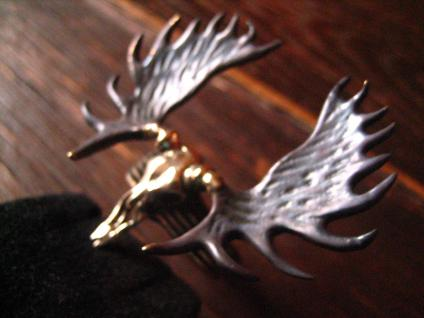 geiler Ring Moose Skull Elch Skelett Schädel neu et Nox Gothic Deluxe RG 62 - Vorschau 2