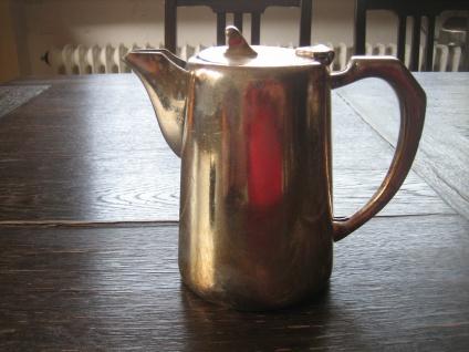 schnuckelige Hotelsilber Teekanne Hot Water Pot 500 ml silber pl Mappin & Webb