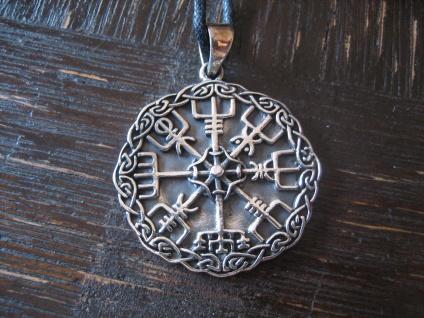 starker maritimer Anhänger Wikinger Kompass Celtic 925er Silber neu et Nox 3 cm