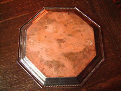 reich verziertes großes Silbertablett Tablett silber pl England 8eckig 33 cm - Vorschau 4