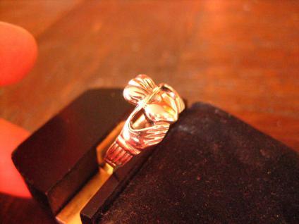feiner Claddagh Ring Herz Krone Hände Hochzeitsring 925er Silber RG 60 et Nox - Vorschau 3