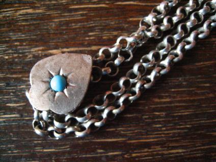 überlange Jugendstil Schieberkette Damen Uhrenkette 148 cm Schieber 800er Silber