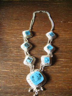 atemberaubendes Berber Collier Kette lapis blaue Steine silber Handarbeit Unikat