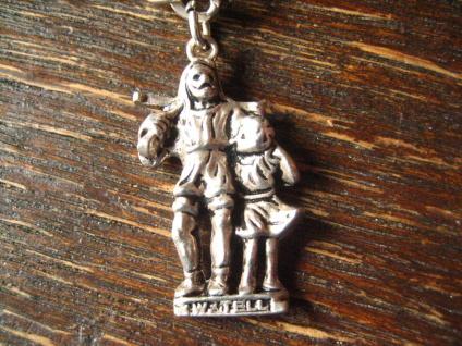 winziger Anhänger Bettelarmband Charm Wilhelm Tell Schweiz 800er Silber