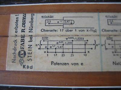 seltenes historisches Lineal Maß Faber Castell Potenzen Logarithmen Wurzeln 1/54 - Vorschau 2