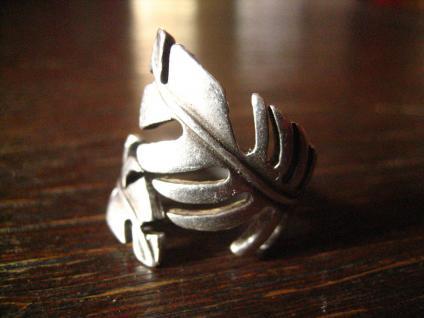 ausgefallener Statement Feder Ring Designer Leonardi Arte silber alle Größen