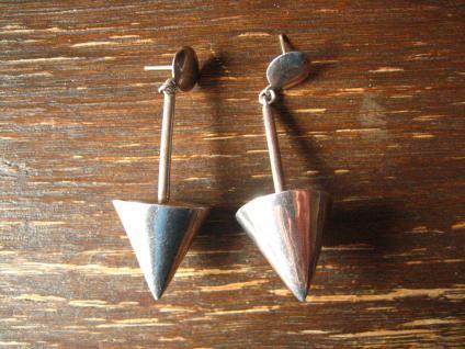 traumhafte ausgefallene Statement Ohrringe Hänger Pendel plastisch 925er Silber
