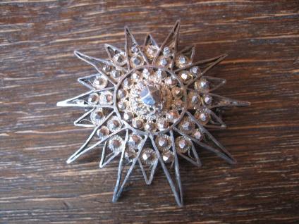 große antike Stern Brosche Anhänger feine Filigranarbeit 835er Silber dekorativ